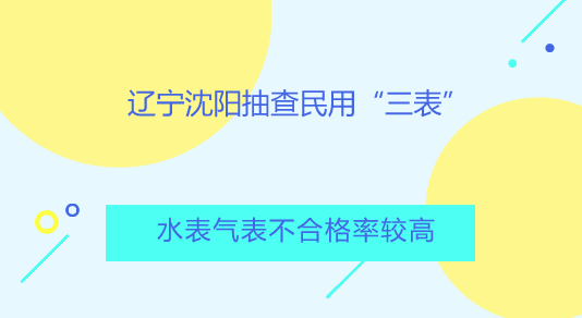 """辽宁沈阳抽查民用""""三表"""" 水表气表不合格率较高"""