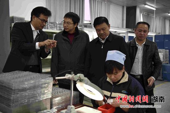 中南大学与沅陵向华电子开展产学研合作
