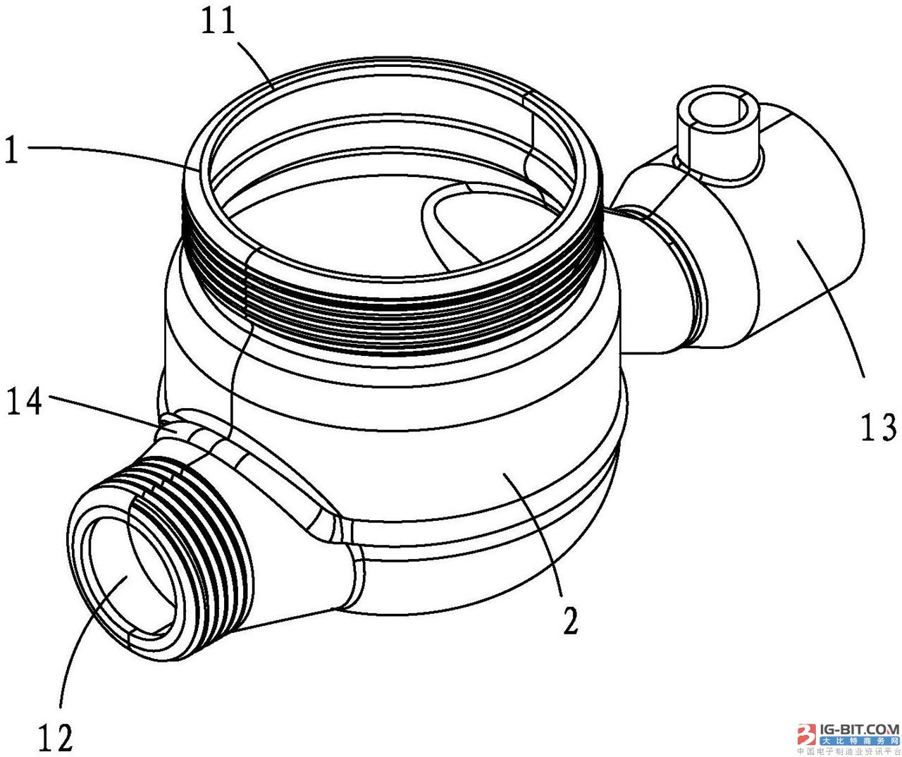 【仪表专利】一种两半式拼装水表壳体及其加工方法