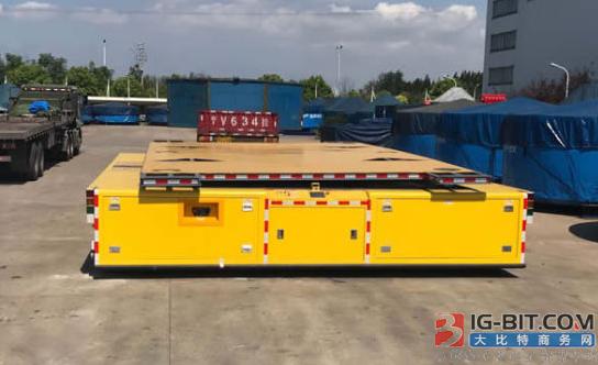 国内首台200T重载AGV正式交付使用
