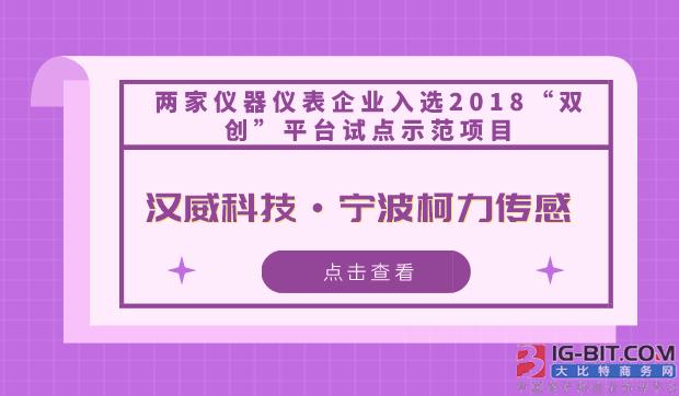 """两家仪器仪表企业入选2018""""双创""""平台试点示范项目"""