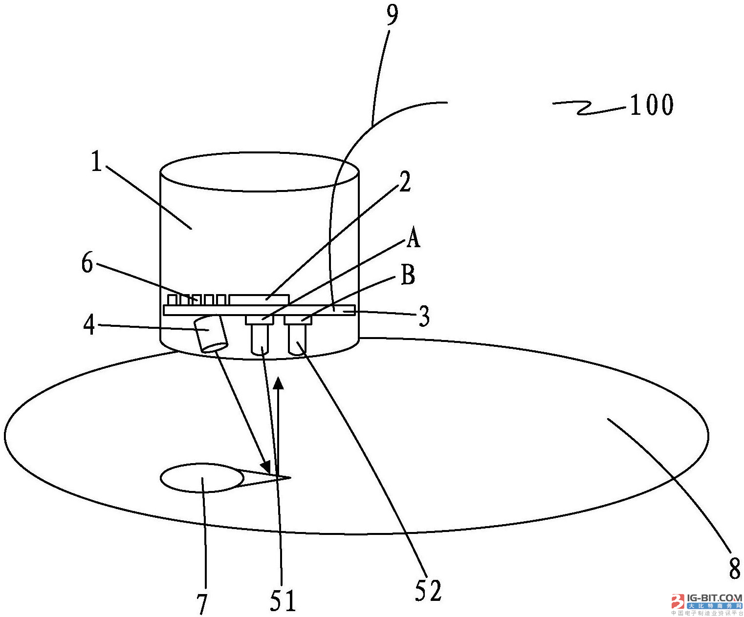 【仪表专利】一种智能水表的光脉冲传感器