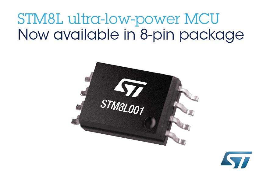 意法半导体STM8L001紧凑型微控制器降低功耗、成本和封装面积  满足智能设备的基本开发要