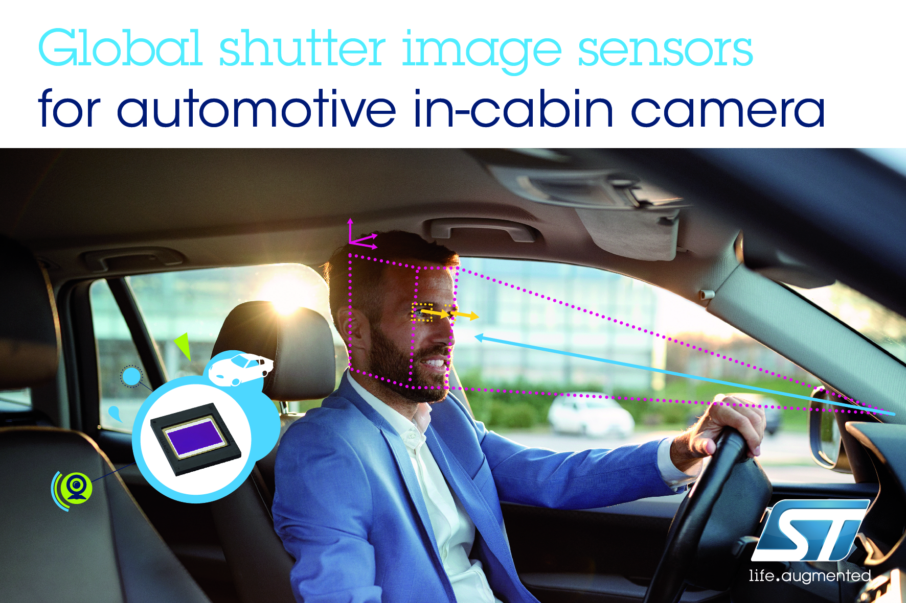 意法半导体的先进影像传感器增强下一代汽车安全系统的驾驶员监测功能