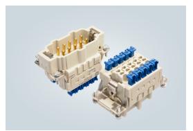 具有高耐受振动性能的Han® ES Press HMC连接器