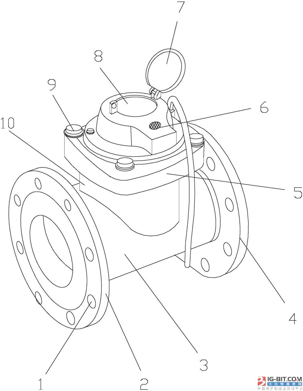 【仪表专利】一种新型的智能防盗水表