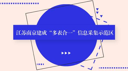 """江苏南京建成""""多表合一""""信息采集示范区"""