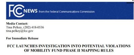 微软报告称美国一半人口无宽带,FCC疑运营商网络覆盖信息造假