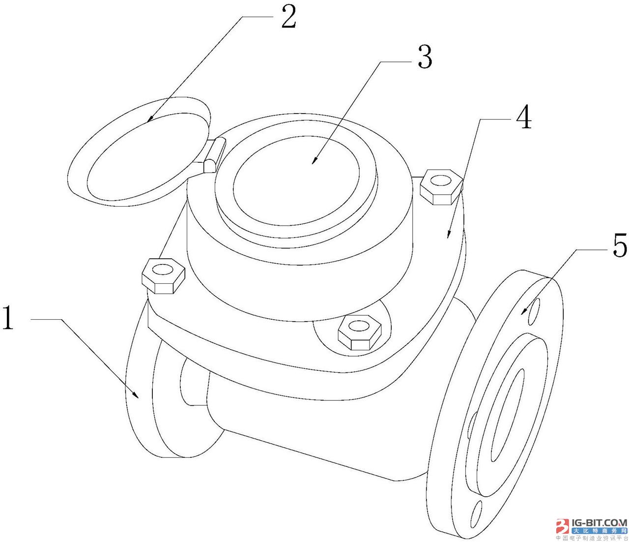 【仪表专利】磁感应变开闭的螺翼干式智能水表