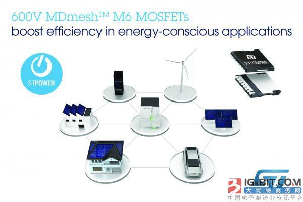 意法半导体推出超结MOSFET瞄准节能型功率转换拓扑