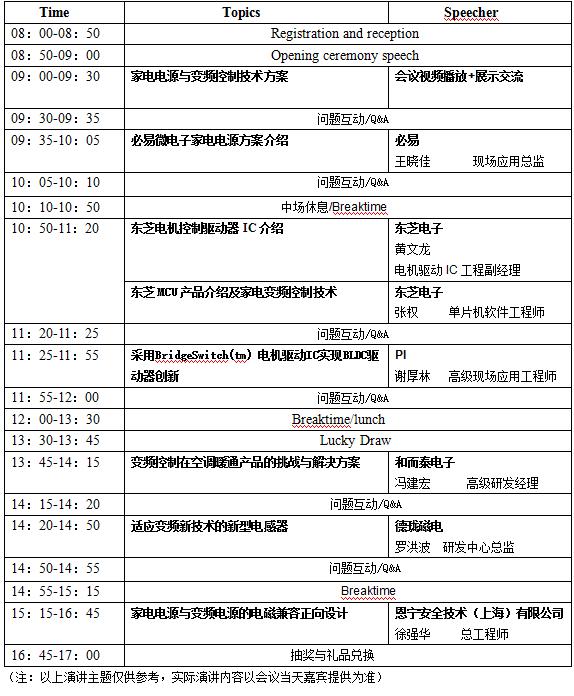 第13届(顺德)家电电源与变频控制技术创新研讨会