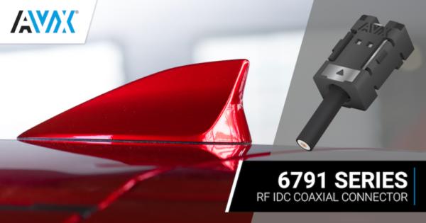 AVX首發用于工業和汽車應用的線對板射頻同軸IDC連接器