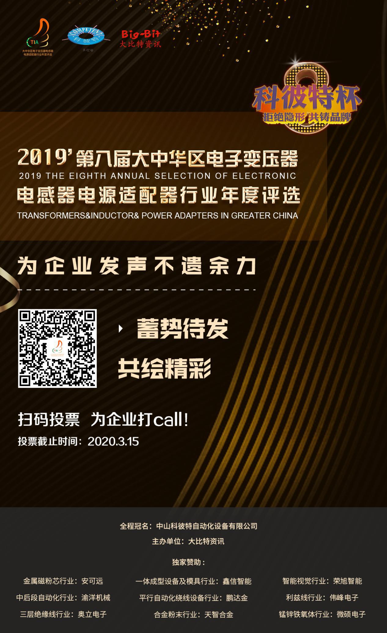 科彼特杯行業評選網上投票通道再次打開(內附投票鏈接)