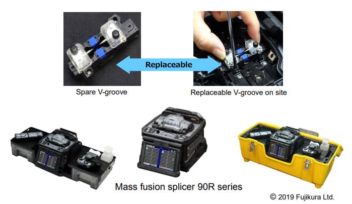 teng仓推出90R系列多光纤熔jie机 搭载可替代V槽组件