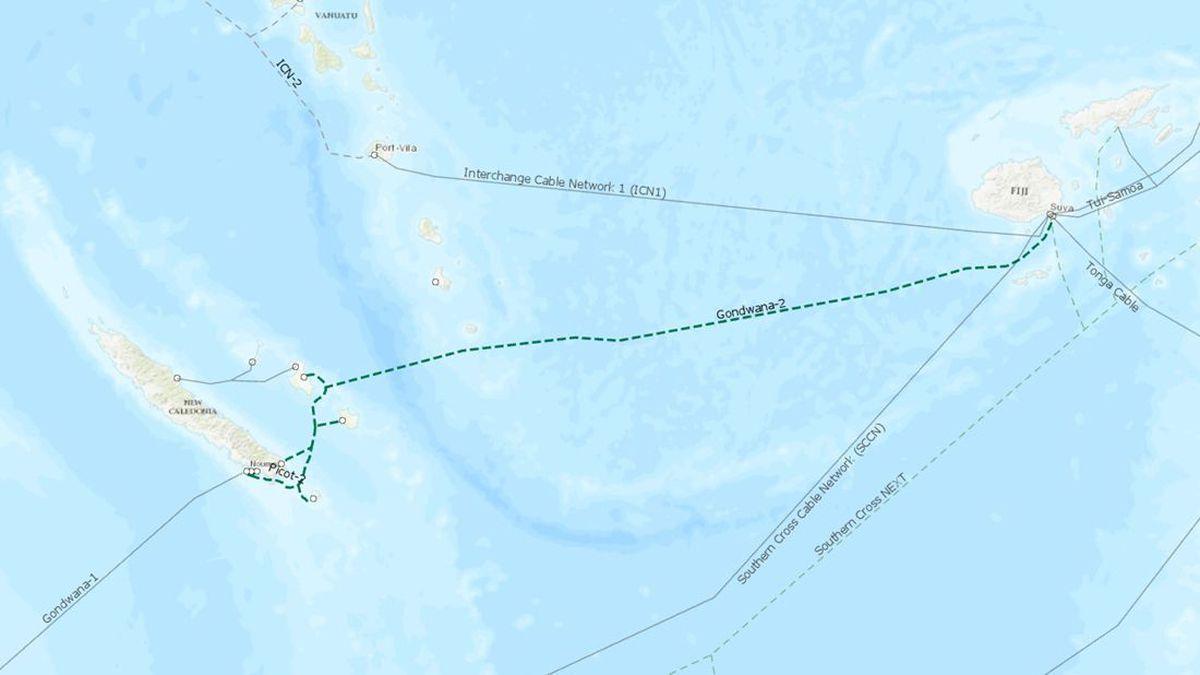 新喀里多尼亞-斐濟海底光纜系統擬于2022年初建成