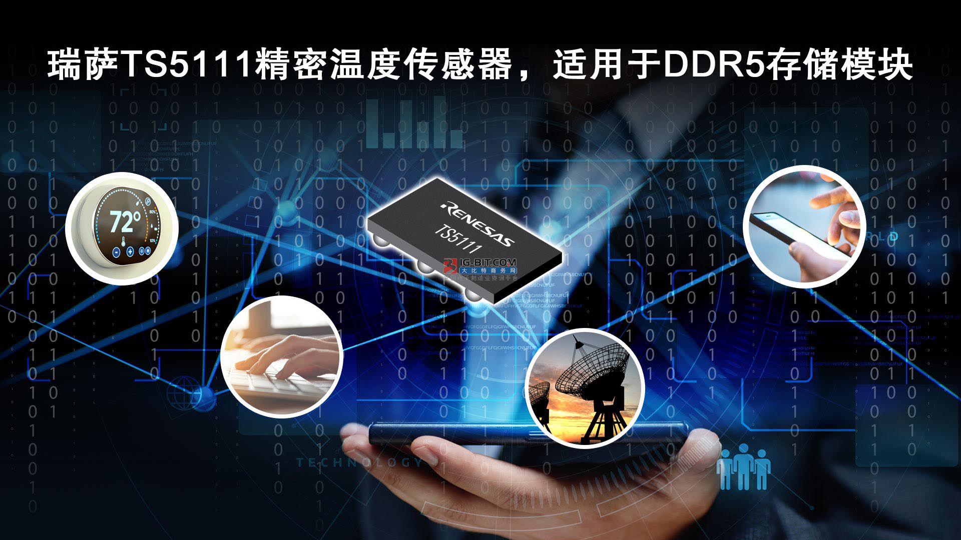 瑞薩電子推出符合JEDEC標準的精密溫度傳感器  適用于DDR5存儲模塊