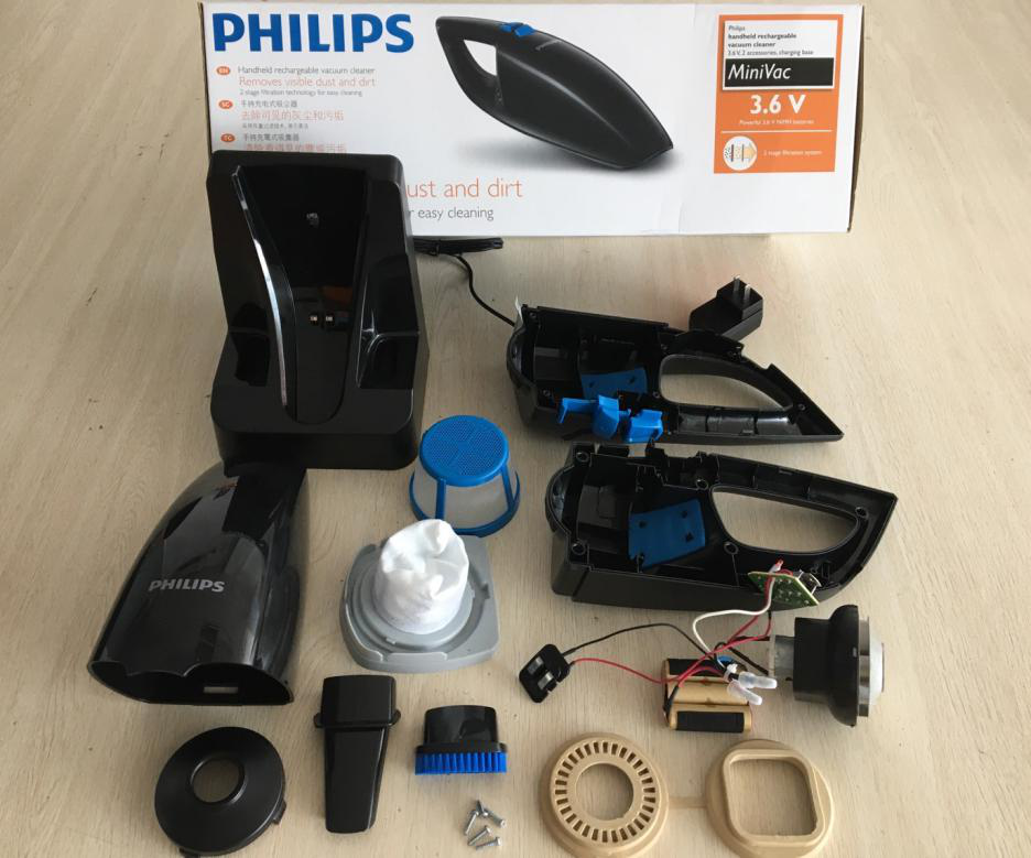 飛利浦FC6152吸塵器拆解:高效清潔車載與家用