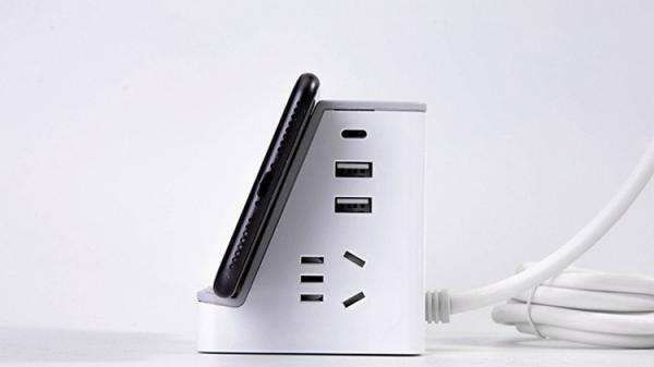 得力推出新型无线充电插座,可同时充6六台设备