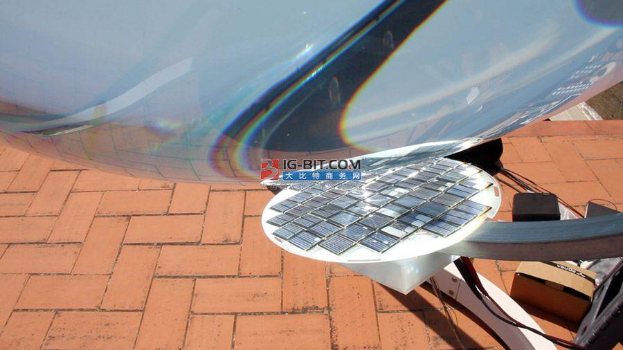 复眼球形太阳能发电效果增101%