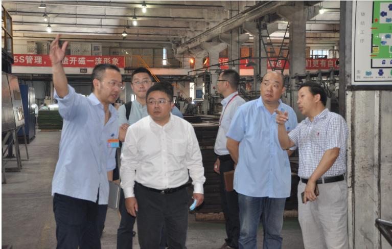 磁性材料分会理事长、九所所长吴江带队走访绵阳磁性行业企业