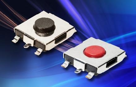 C&K 开发的微型 SMT 轻触开关提供多种高度和操纵力选项