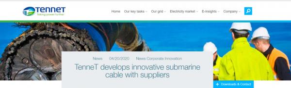 逐鹿欧洲高端市场! 中天科技受邀成为荷兰±525kV柔直海缆研发参与方