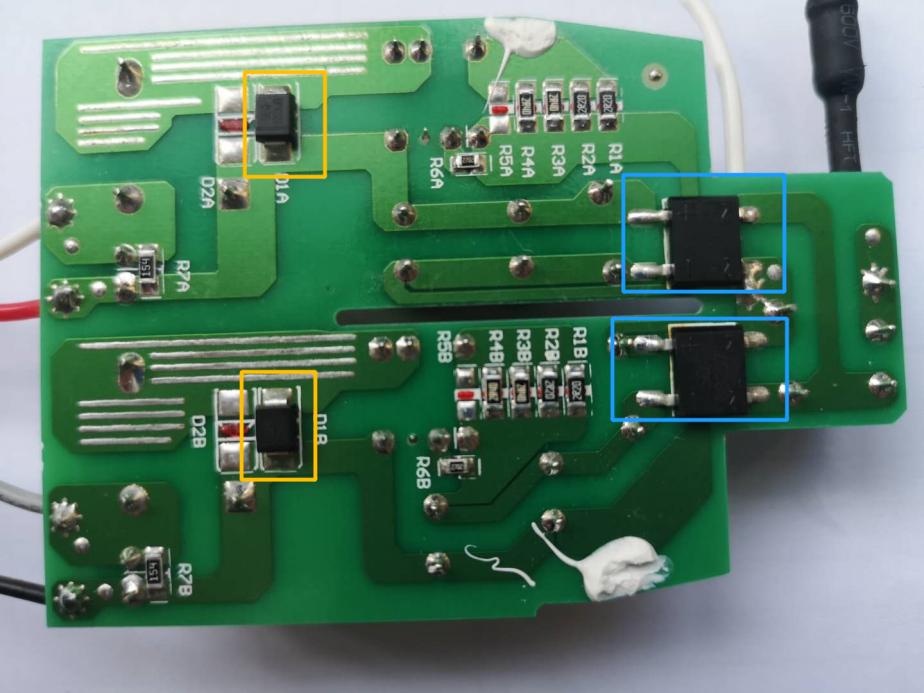 LED柱形球泡80W控制面板背面