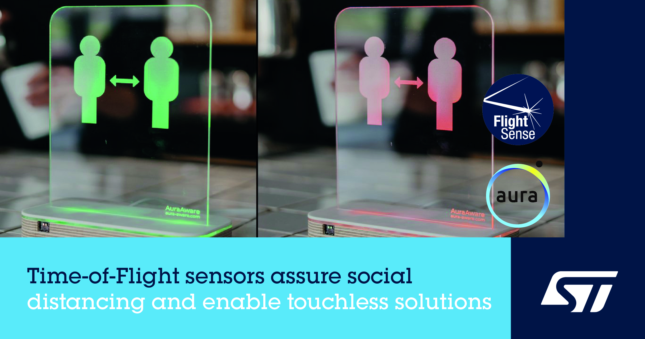意法半导体FlightSense™飞行时间接近及检测传感器助力社交距离感知应用创新