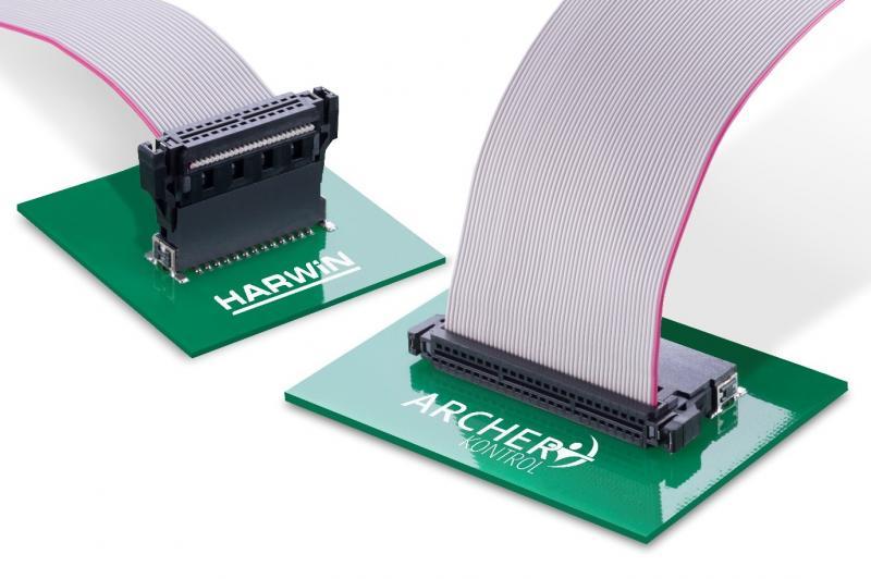 Harwin的高耐用性1.27mm间距工业连接器现在可提供随附电缆组件