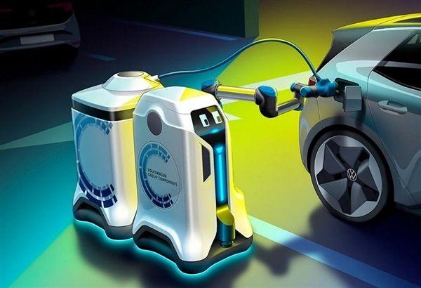 移动充电宝?爱驰汽车研发会自动找车充电的机器人