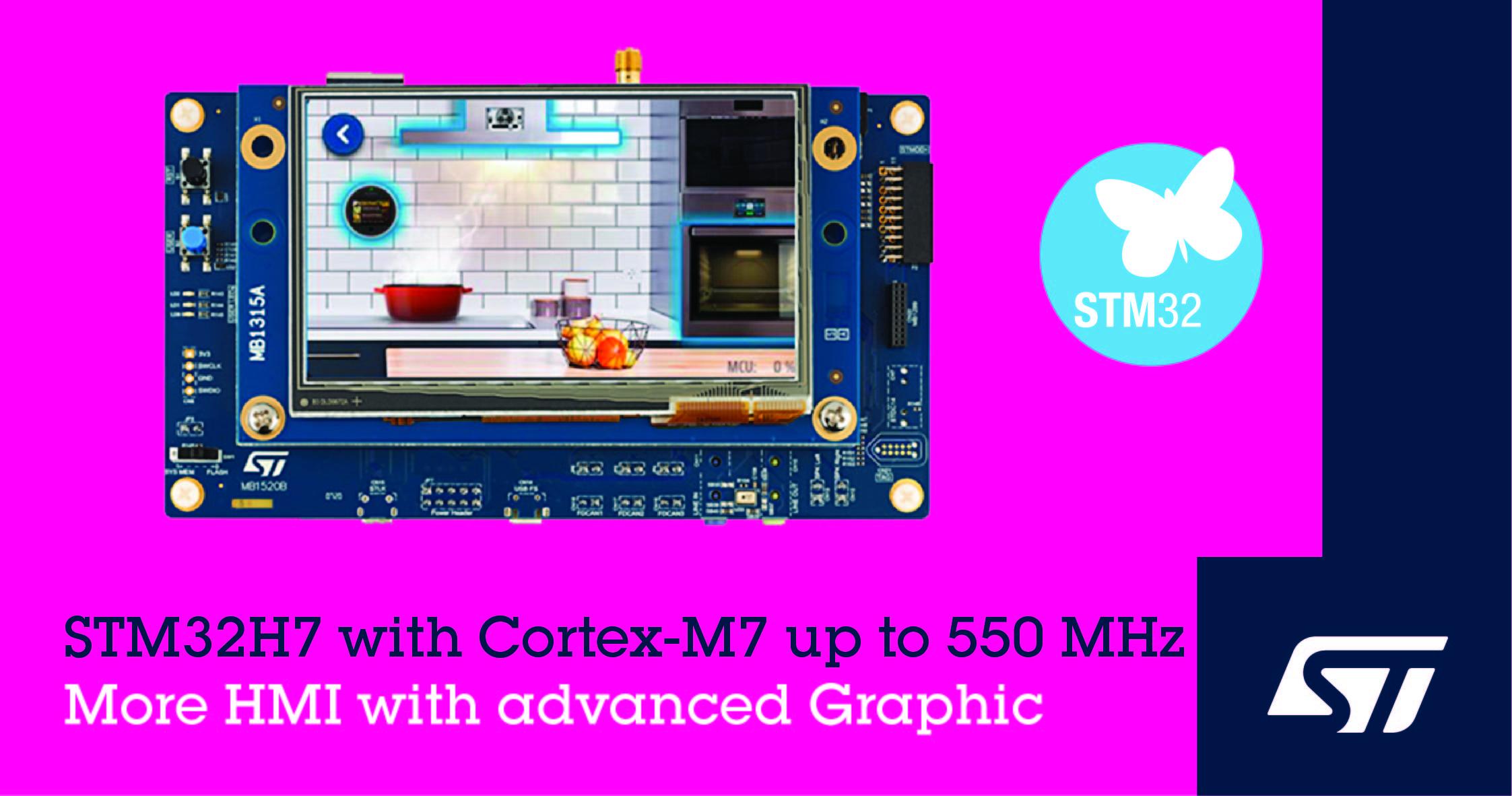 意法半导体推出新升级的更快的STM32H7微控制器提高智能互联产品的性能和经济性