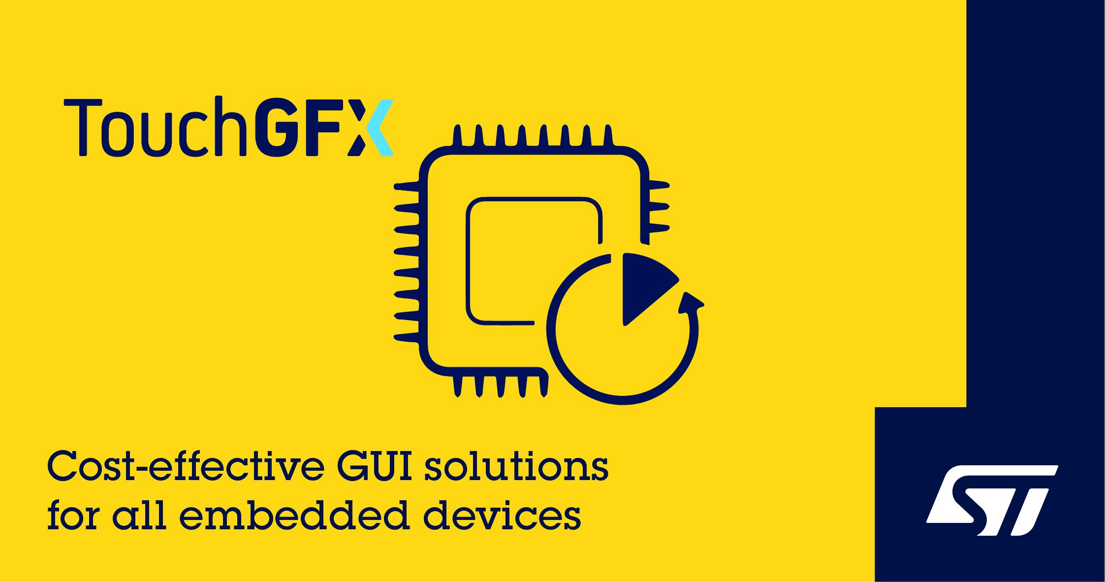 意法半导体推出新STM32 Nucleo Shield板卡并更新TouchGFX软件简化超低功耗设备GUI设计