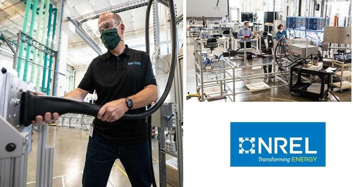 在NREL上测试了几个兆瓦充电系统连接器