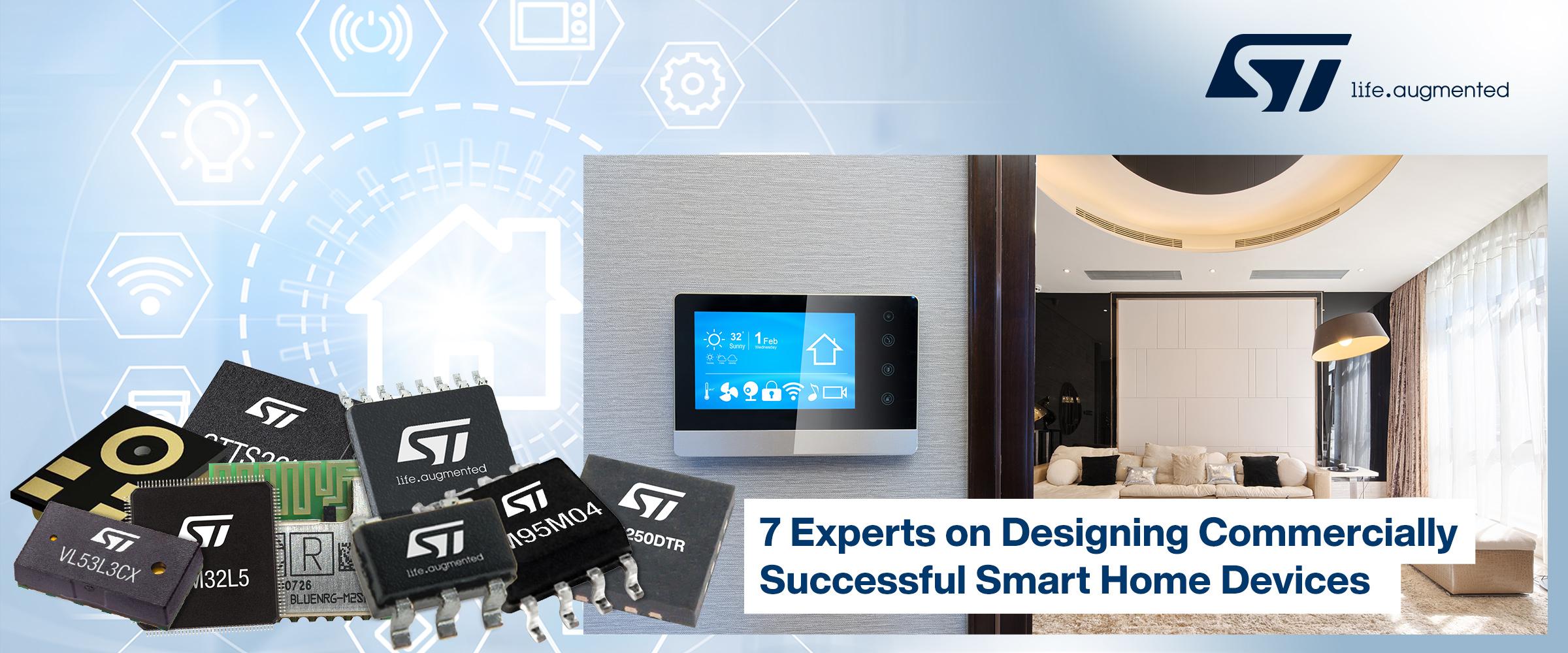 贸泽与STMicroelectronics联手发布新电子书就智能家居设备开发提供行业专家意见