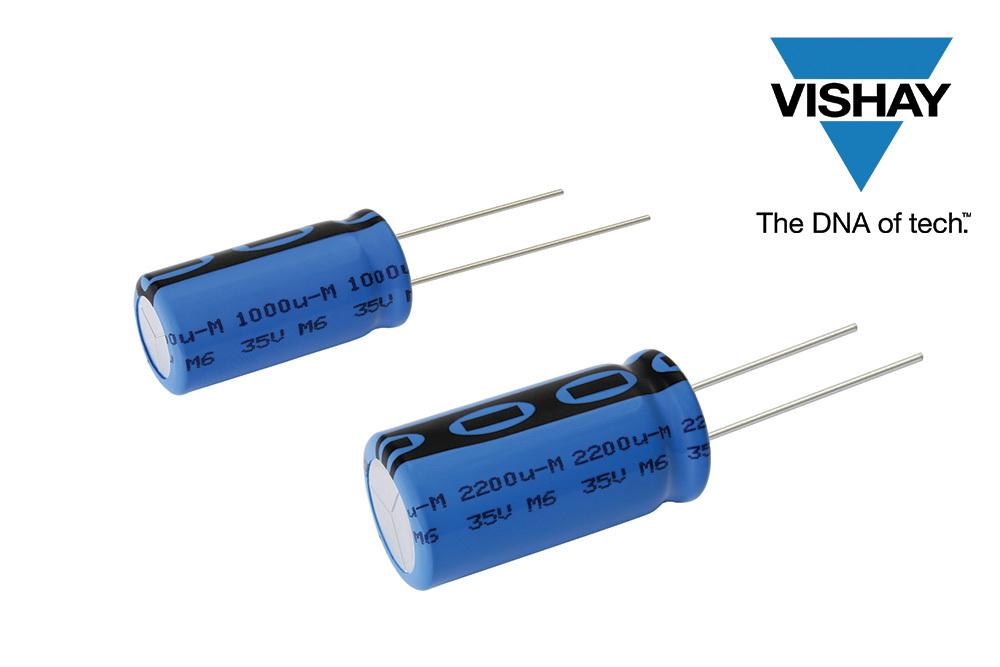 Vishay推出在高温应用下提高设计灵活性、节省电路板空间的铝电容器