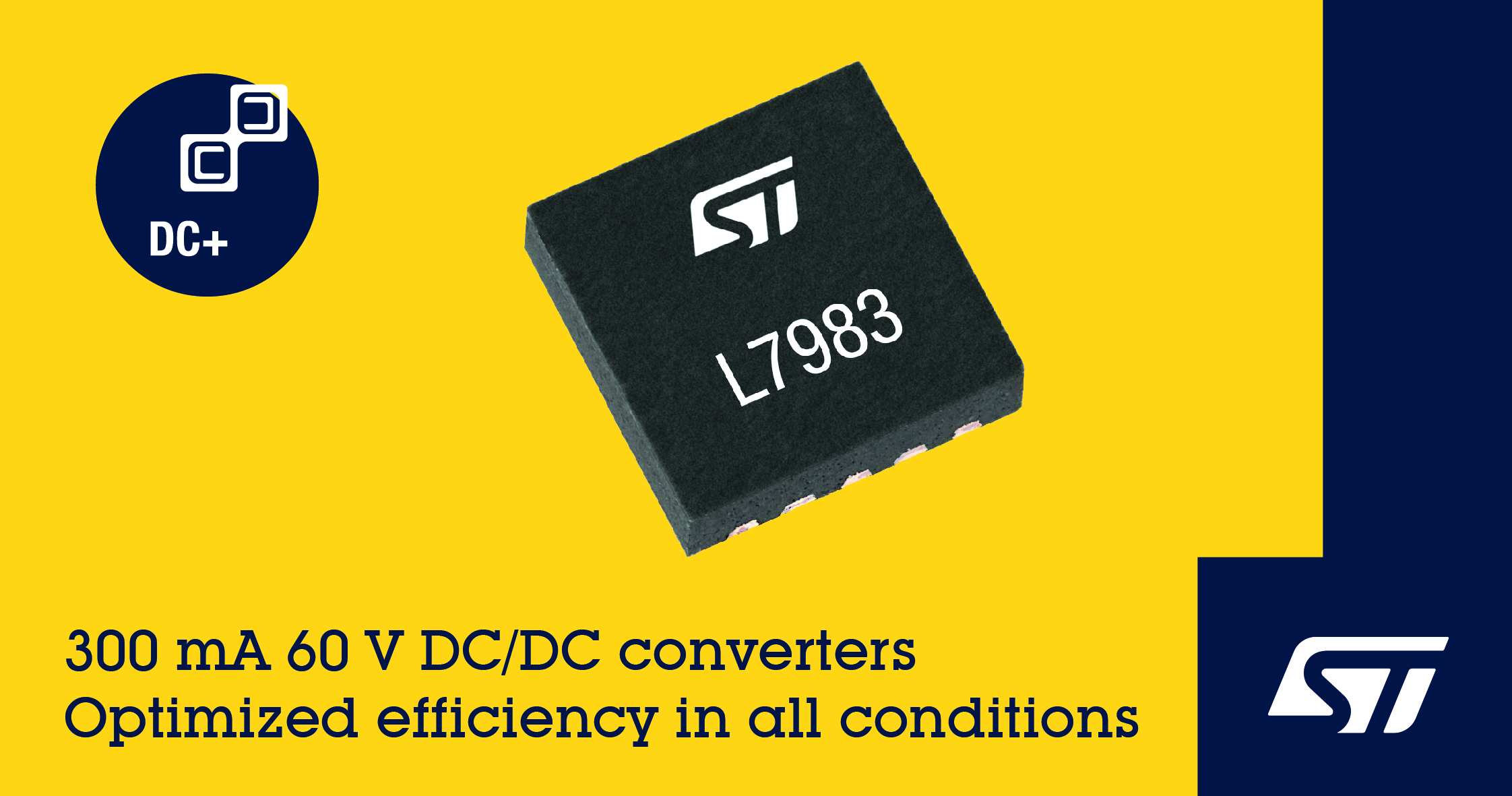 意法半导体发布高灵活性紧凑型60V DC/DC变换器