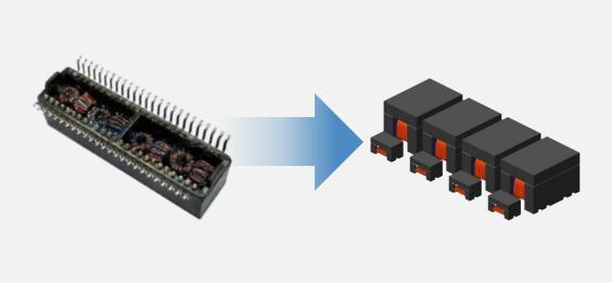 分析下这两种电子变压器的不同