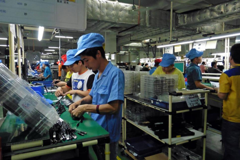 电子制造业开始从中国转移