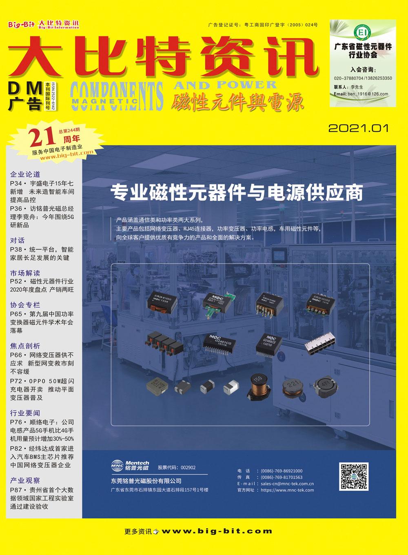 《磁性元件与电源》杂志2021年01月刊