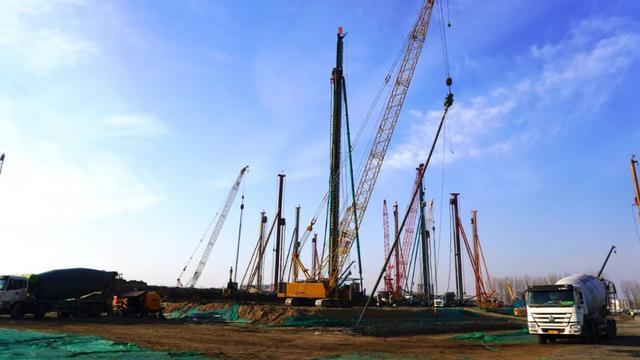 ▲中芯京城一期工程项目建设现场