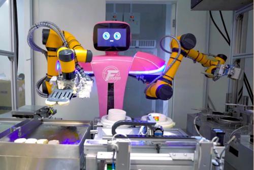 """""""AI+厨房""""落地张江,机器人大厨有这些拿手菜……"""