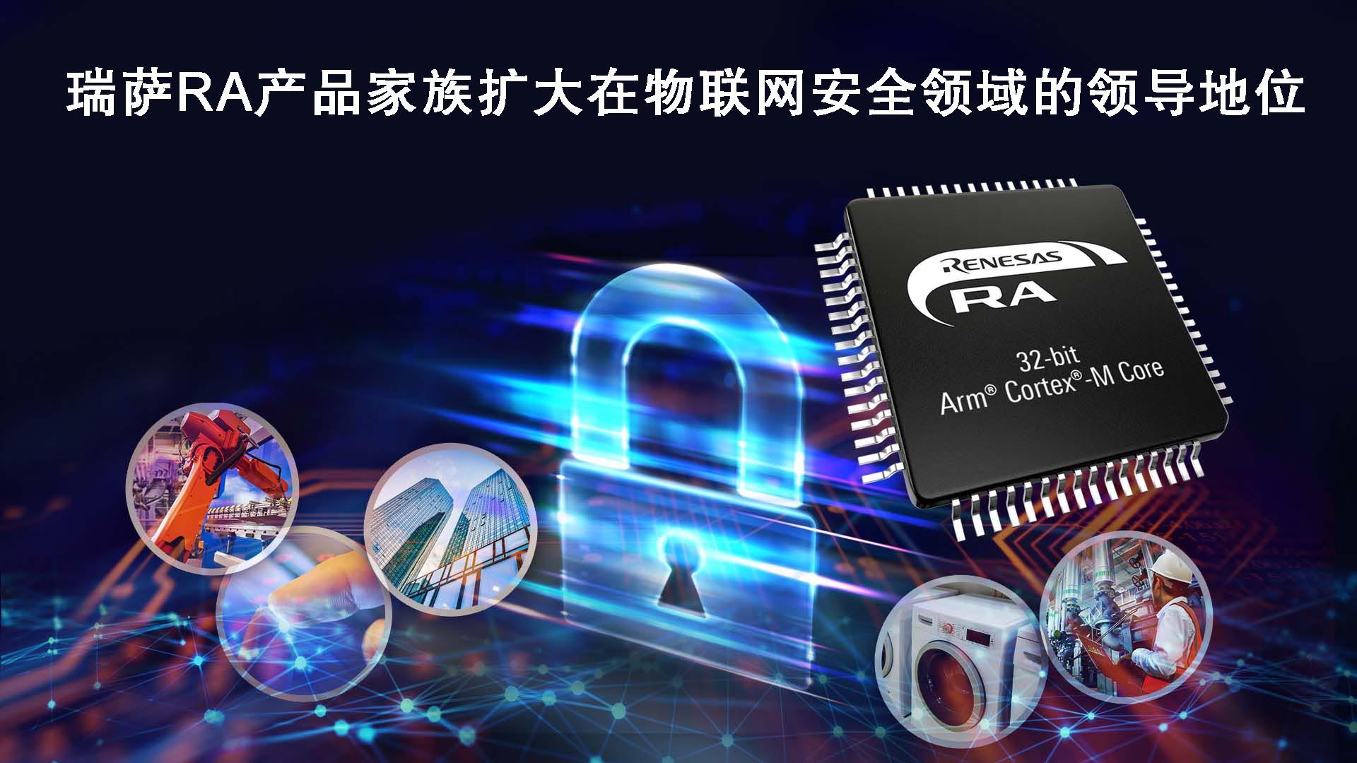 瑞萨RA产品家族通过PSA 2级和SESIP认证  进一步扩大在物联网安全领域的领导地位