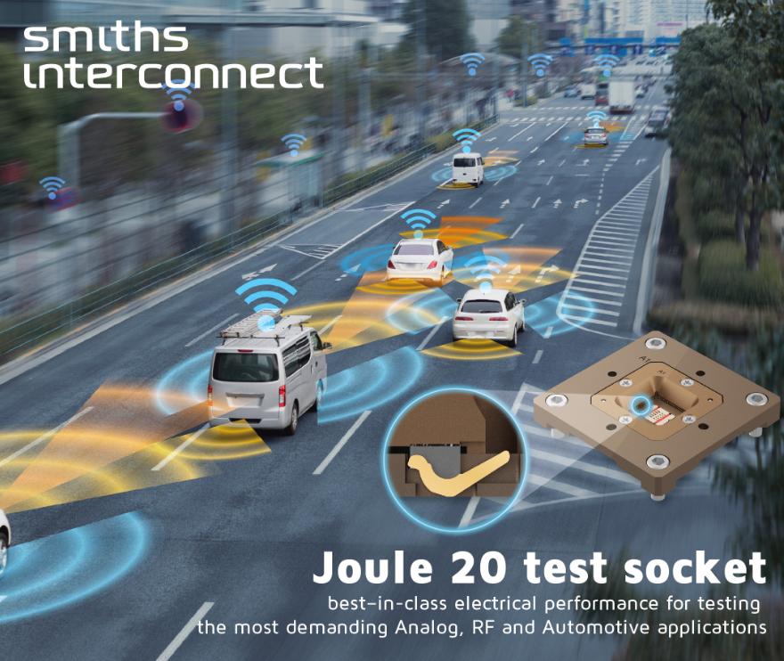 史密斯英特康推出新的高频测试插座Joule 20