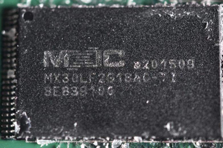 旺宏(MXIC)MX30LFXG18AC FLASH存储器芯片。