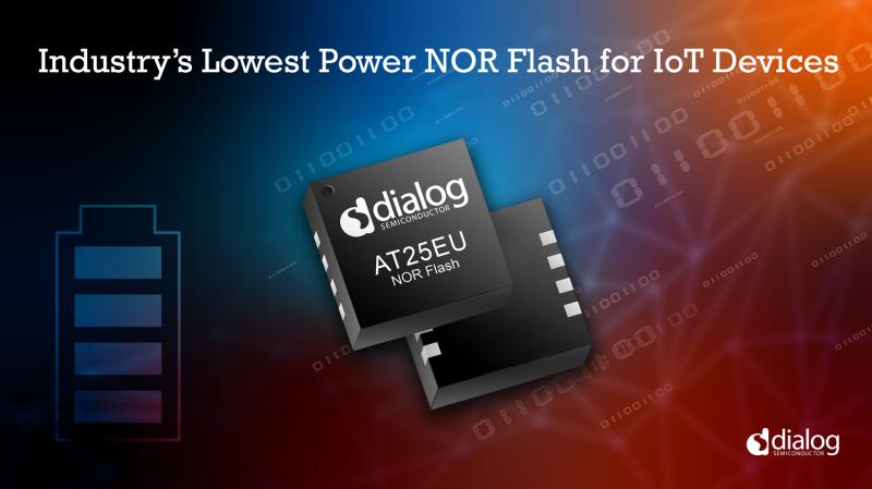 Dialog半导体公司推出业内功耗最低的闪存器件,进一步丰富其IoT产品组合