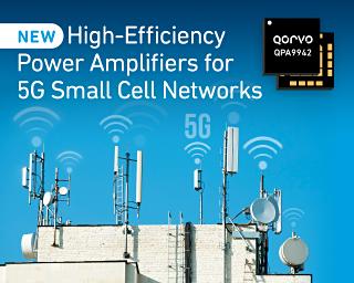 Qorvo 推出面向 5G 小基站网络的高效功率放大器系列产品