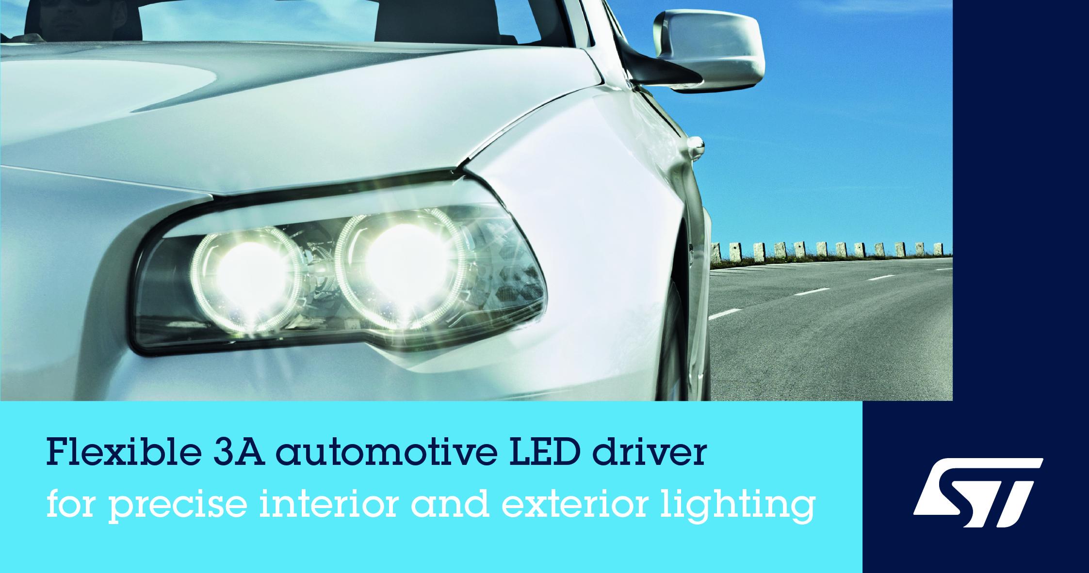 意法半导体发布高集成度、设计灵活的车规LED驱动器