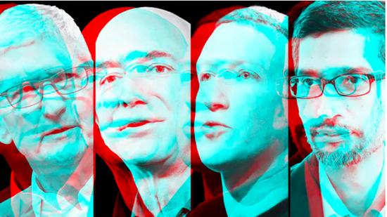 苹果、亚马逊、谷歌和Facebook至少面临70起反垄断调查与诉讼