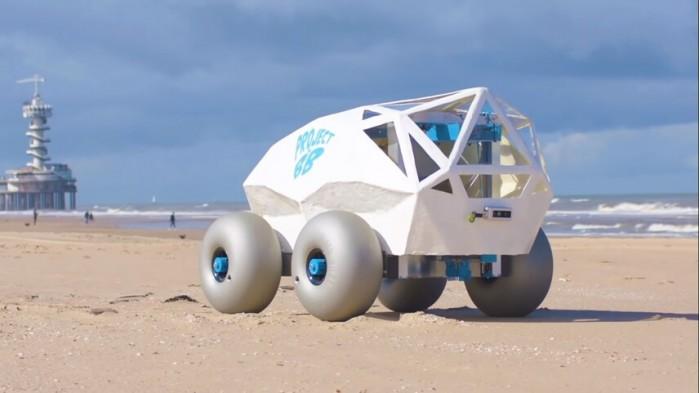 沙滩机器人BeachBot利用人工智能清除烟头
