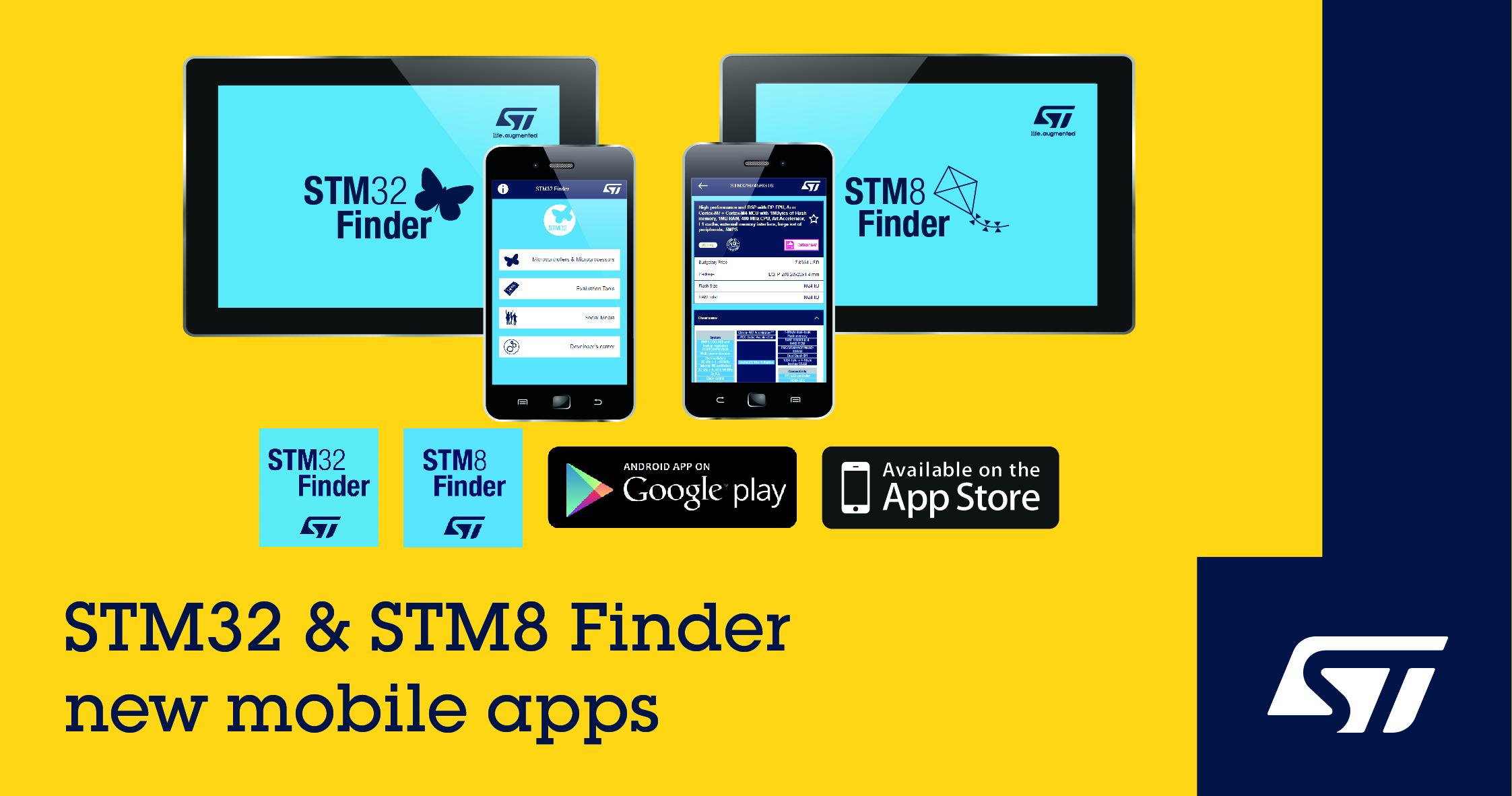 意法半导体新STM8和STM32手机应用软件优化微控制器选型